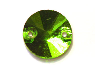 Circle Sew-On 16mm - Peridot