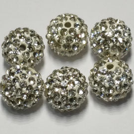 Diamante Ball Beads - Crystal