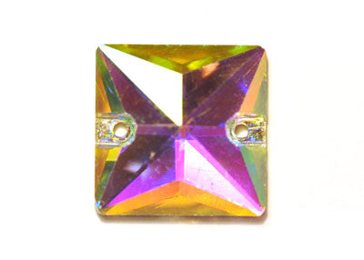 Square Sew-On 16mm - Crystal AB