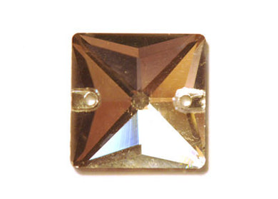 Square Sew-On 16mm - Crystal