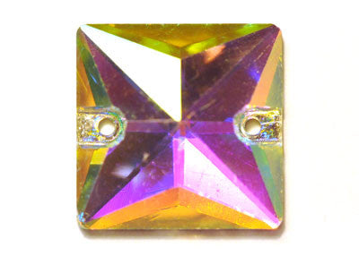 Square Sew-On 22mm - Crystal AB
