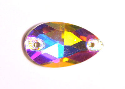 Teardrop Sew-On 11 x 18mm - Crystal AB