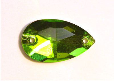 Teardrop Sew-On 11 x 18mm - Peridot