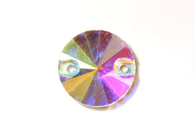 Circle Sew-On 14mm - Crystal AB
