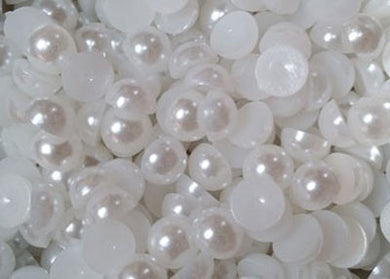 Half Pearls - 8mm White x 400 pieces