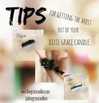 Tips to Burning Your Dixie Grace Candles