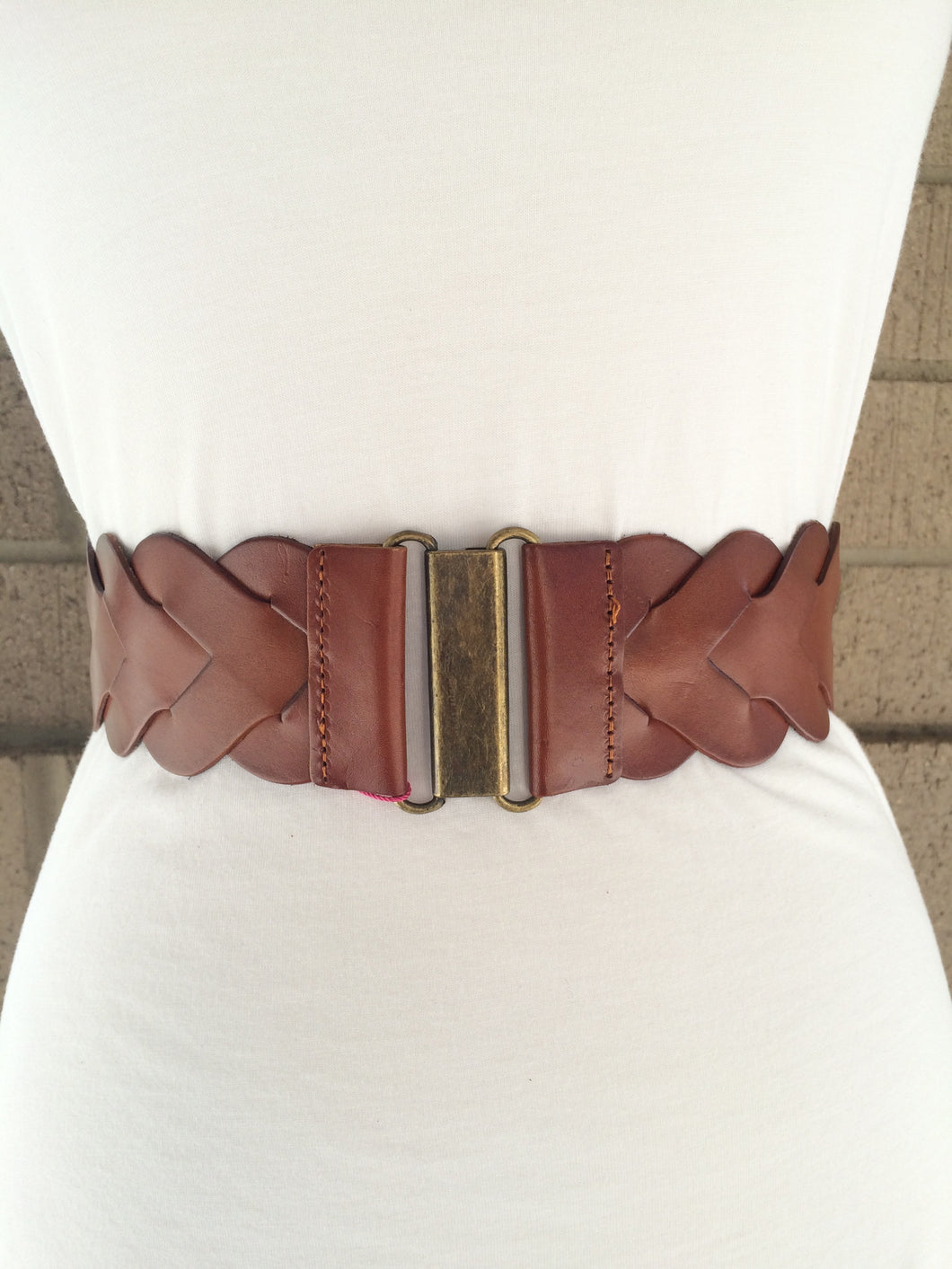 Wide Braided Front Belt