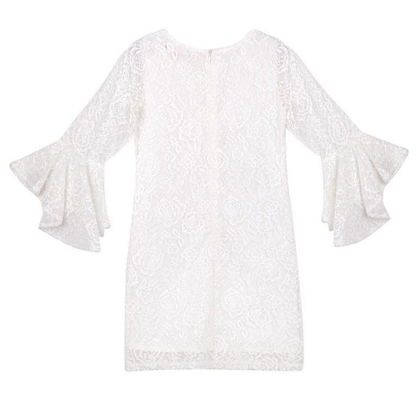Riley Rose Lace Dress - Ivory