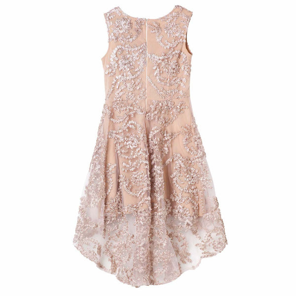 Georgina Embroidered Dress - Latte