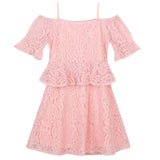 Azalea Lace Dress - Pink