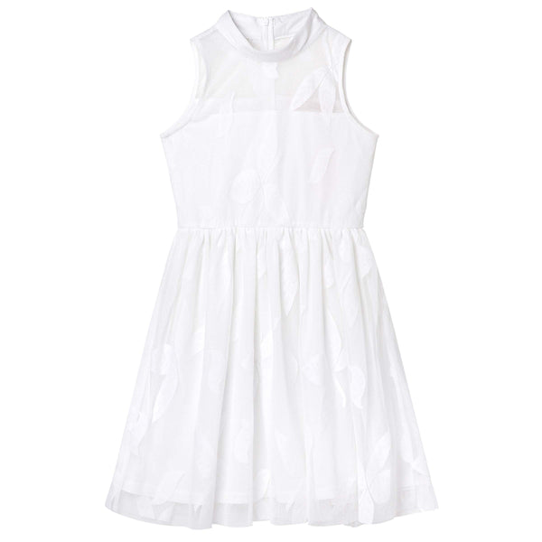 Mila High-Neck Dress - Ivory