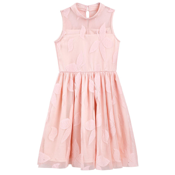 Mila High-Neck Dress - Peach