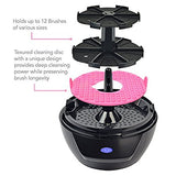 Lilumia 2 Makeup Brush Cleaner Device (Black) - Electronic Cleaning Machine Keeps Cosmetic Makeup Brushes Soft and Clean with the Push of a Button