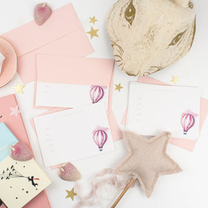 Personalised Balloon Invitation - Pink