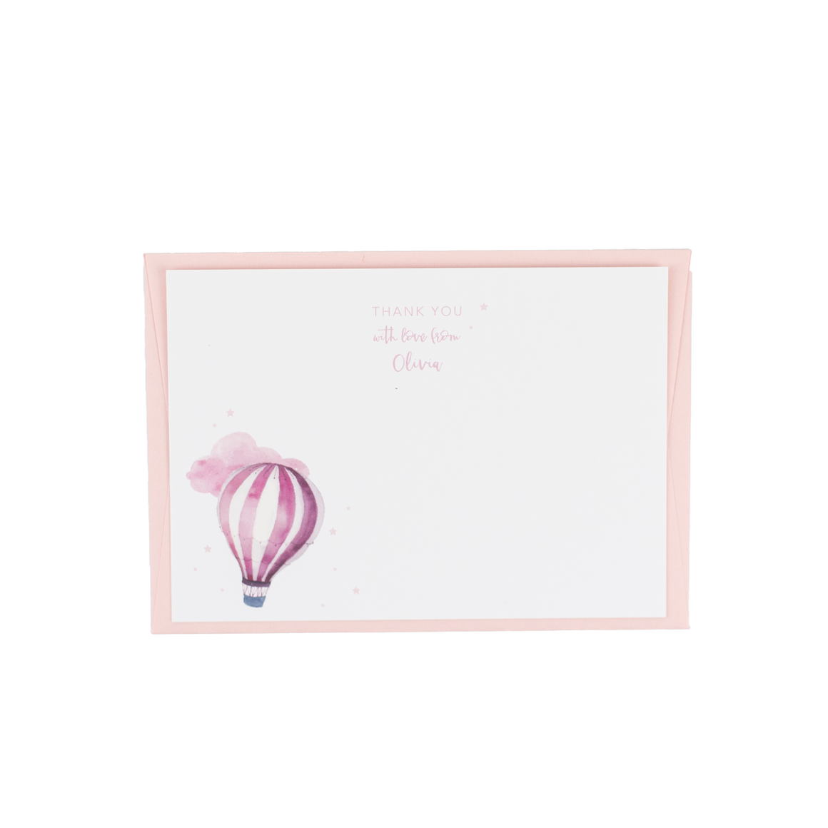 Personalised Balloon Thank You - Pink
