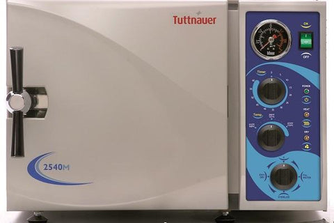 Example of manual autoclave from Tuttnauer