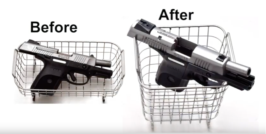 Before and After of Gun Cleaner
