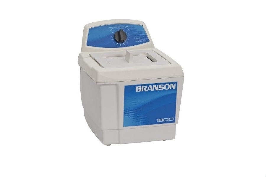 Branson M1800H Ultrasonic Cleaner with Mechanical Timer & Heat, 0.5 gallon - leadsonics