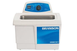 Branson M2800H Ultrasonic Cleaner with Mechanical Timer & Heat, 0.75 gallon - leadsonics