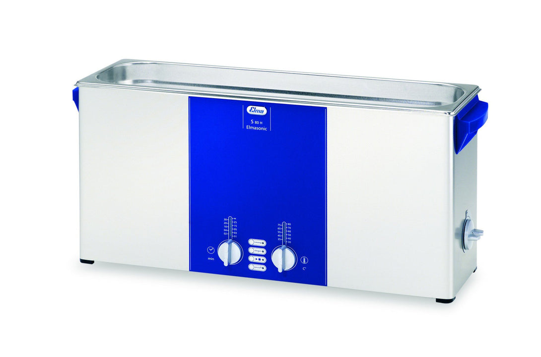 Elmasonic S80H S-Line | Heated Ultrasonic Cleaner | 2.0 GAL - leadsonics