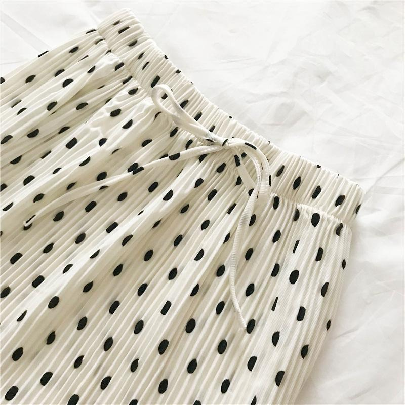 Polka Dot Pleated skirt