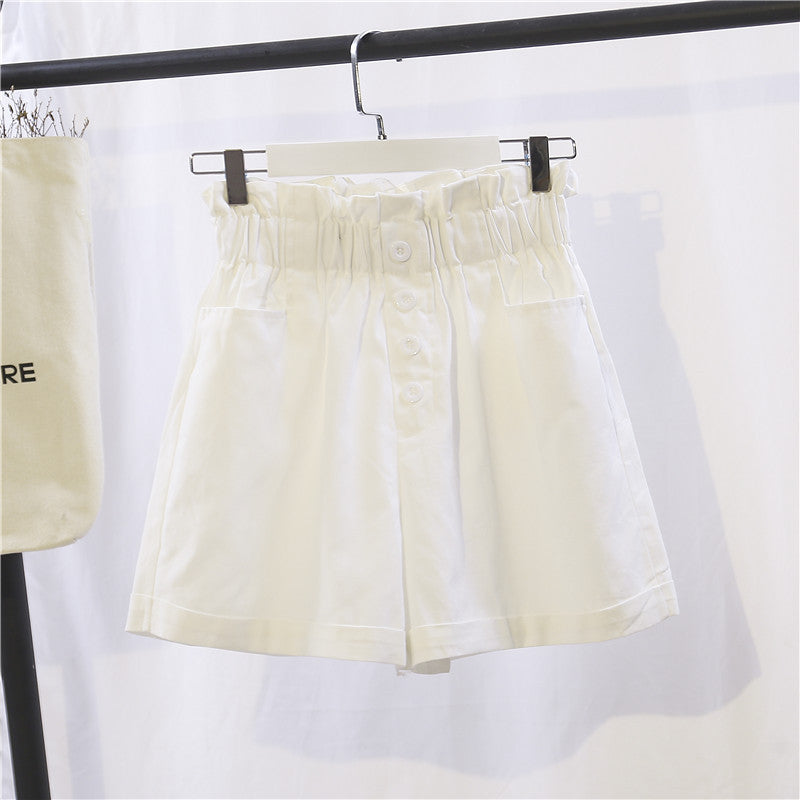 Wide Leg Bud Waist Shorts