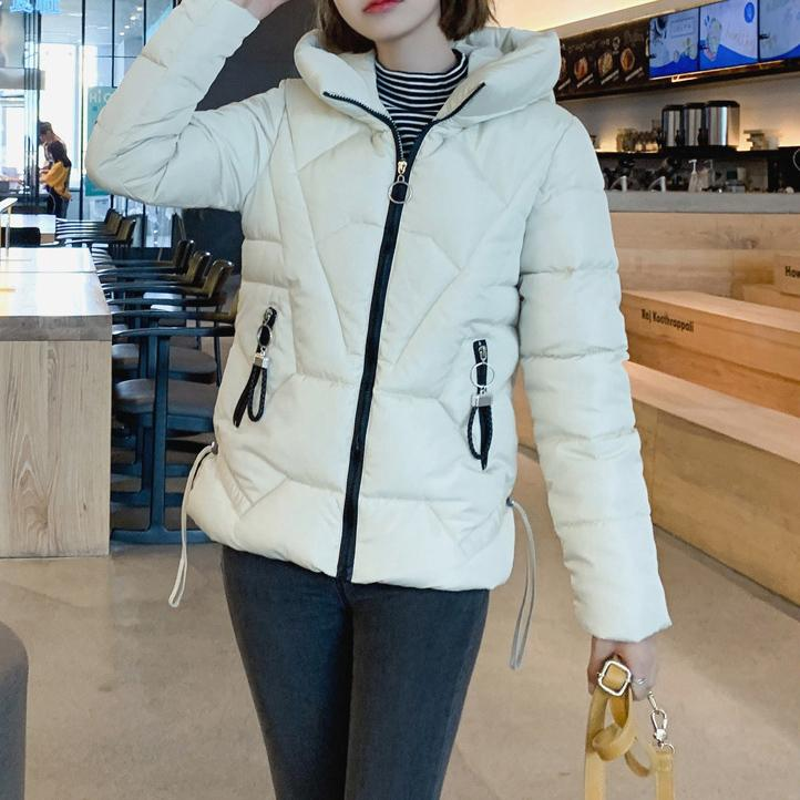 Winter Solid Color Hooded Jacket