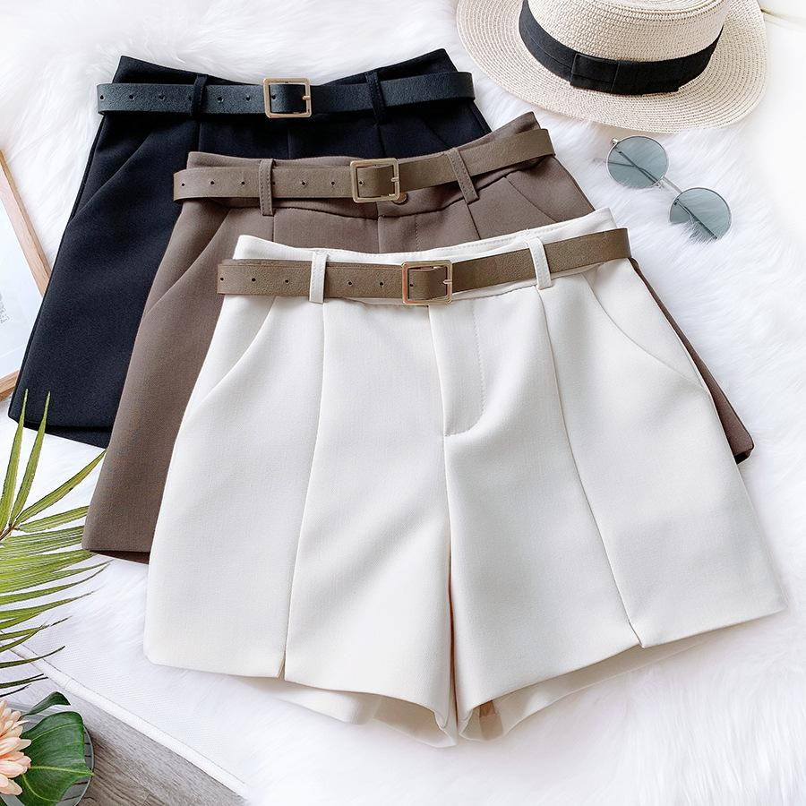 A-Line Wide Leg Shorts With Belt