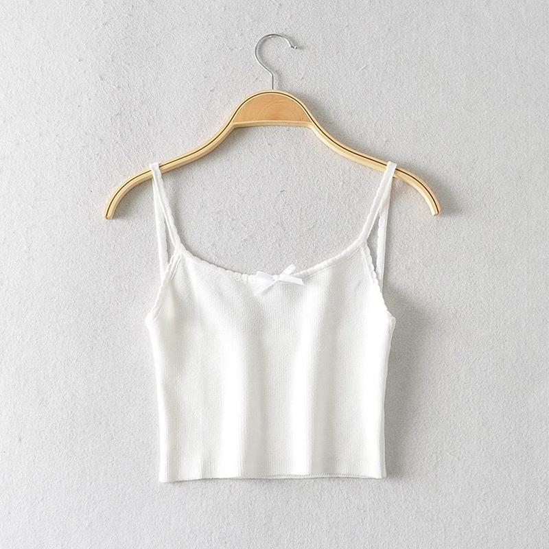 Bow-Knot Knitted Tank Top