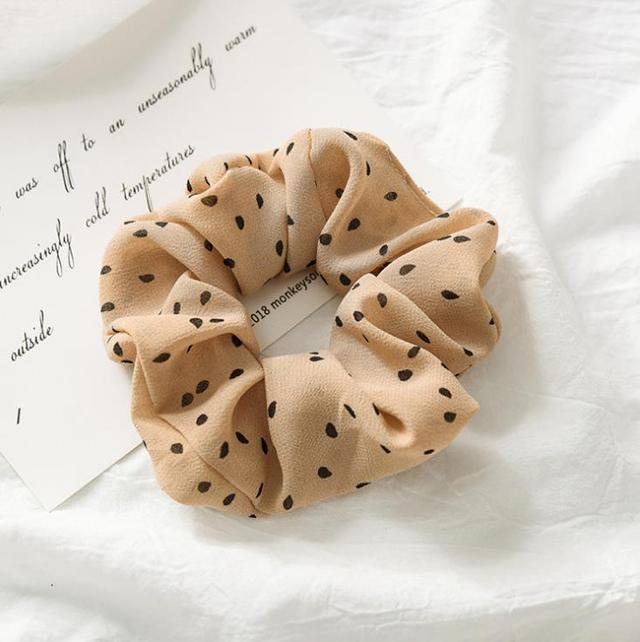 Dotted Hair Scrunchies (7 Colors)