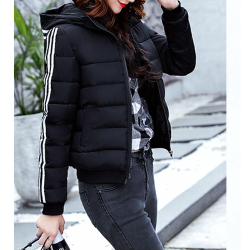 Winter Striped Hooded Jacket