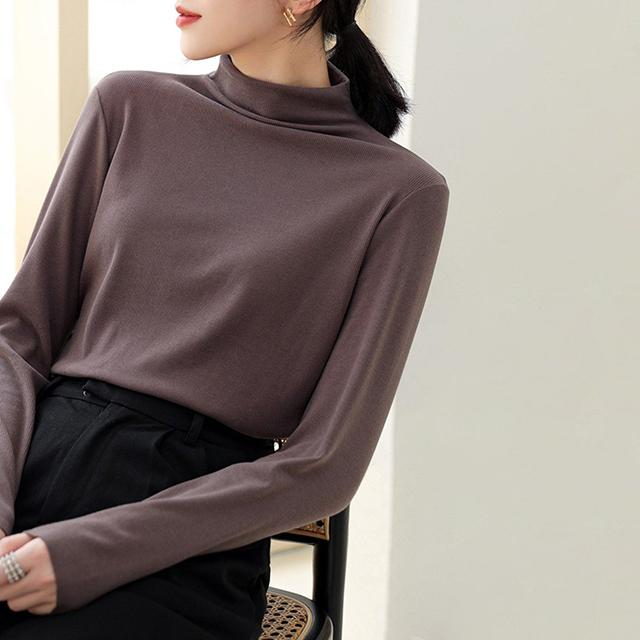 Long Sleeve Stand Collar Shirt