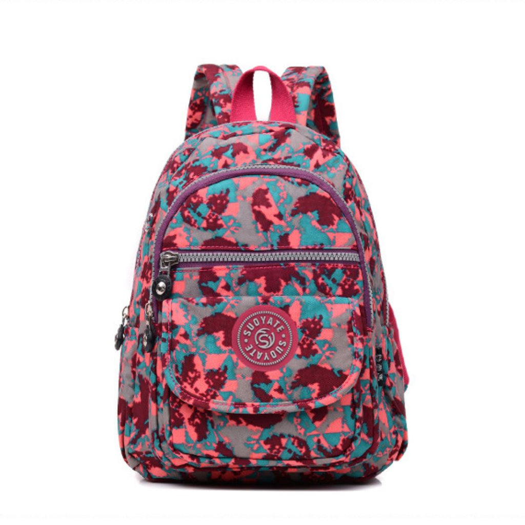 Multi Color Canvas Backpack