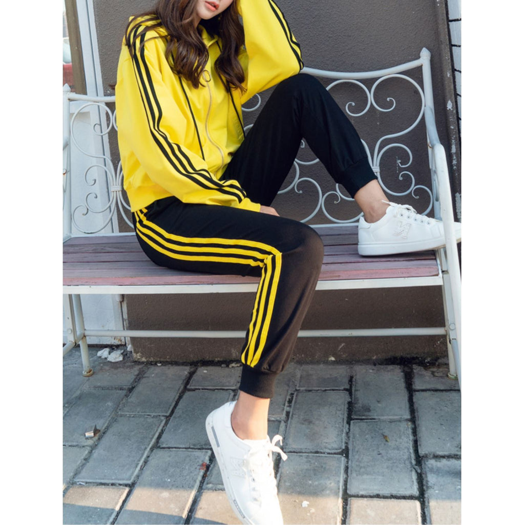 Winter Striped Hoodie & Sweatpants (2 Piece Set)