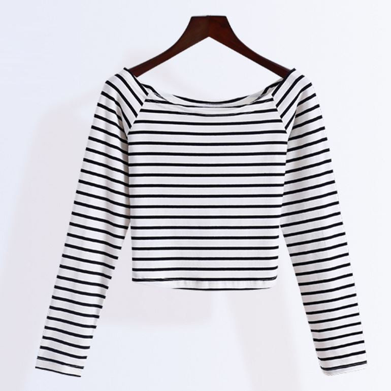 Striped Crop Shirt
