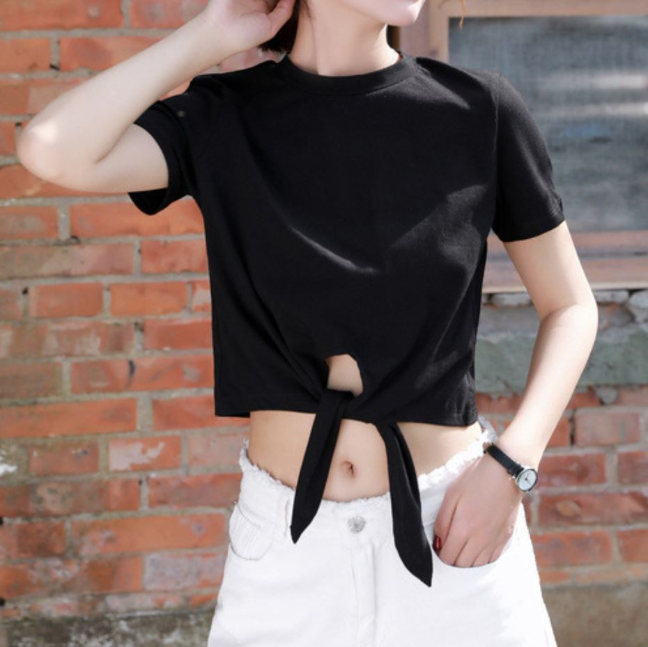 Bow Tie Short Sleeve T-Shirt
