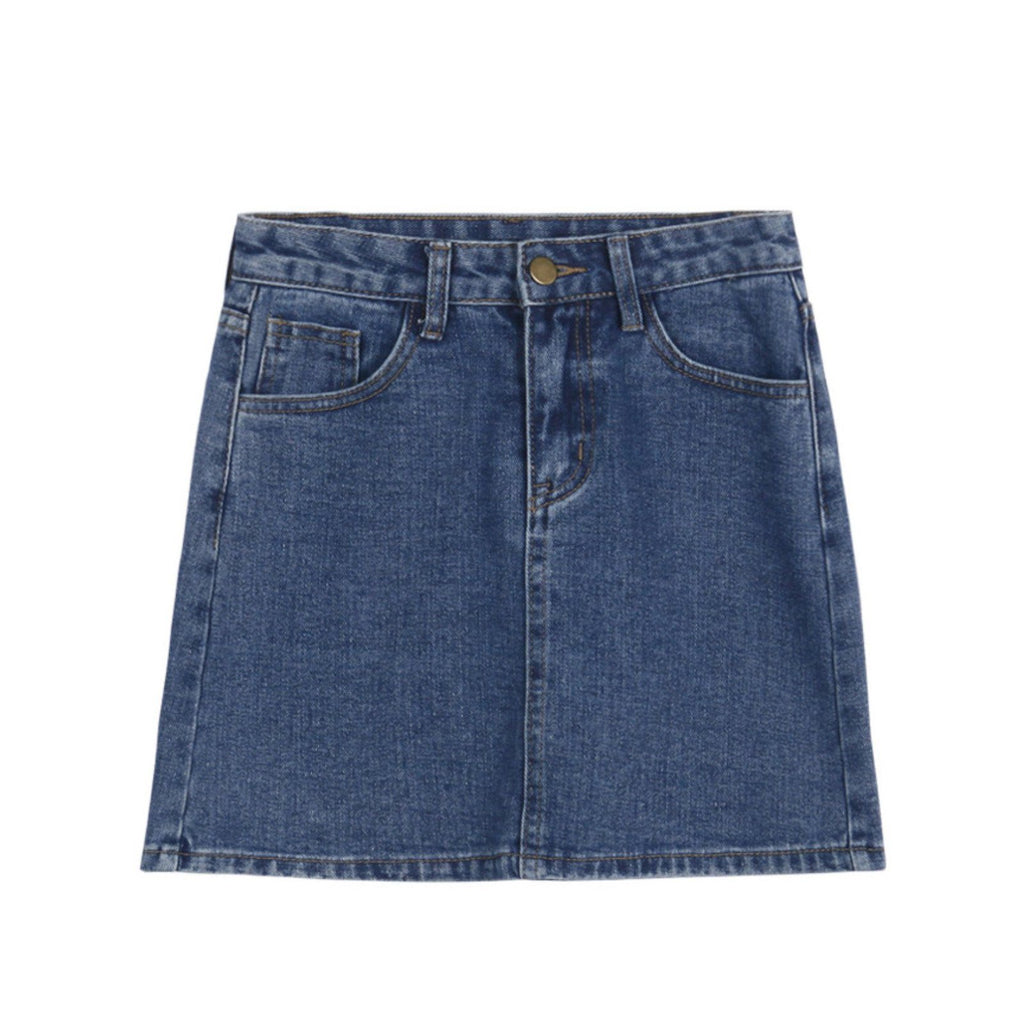 A-Line Short Denim Skirt