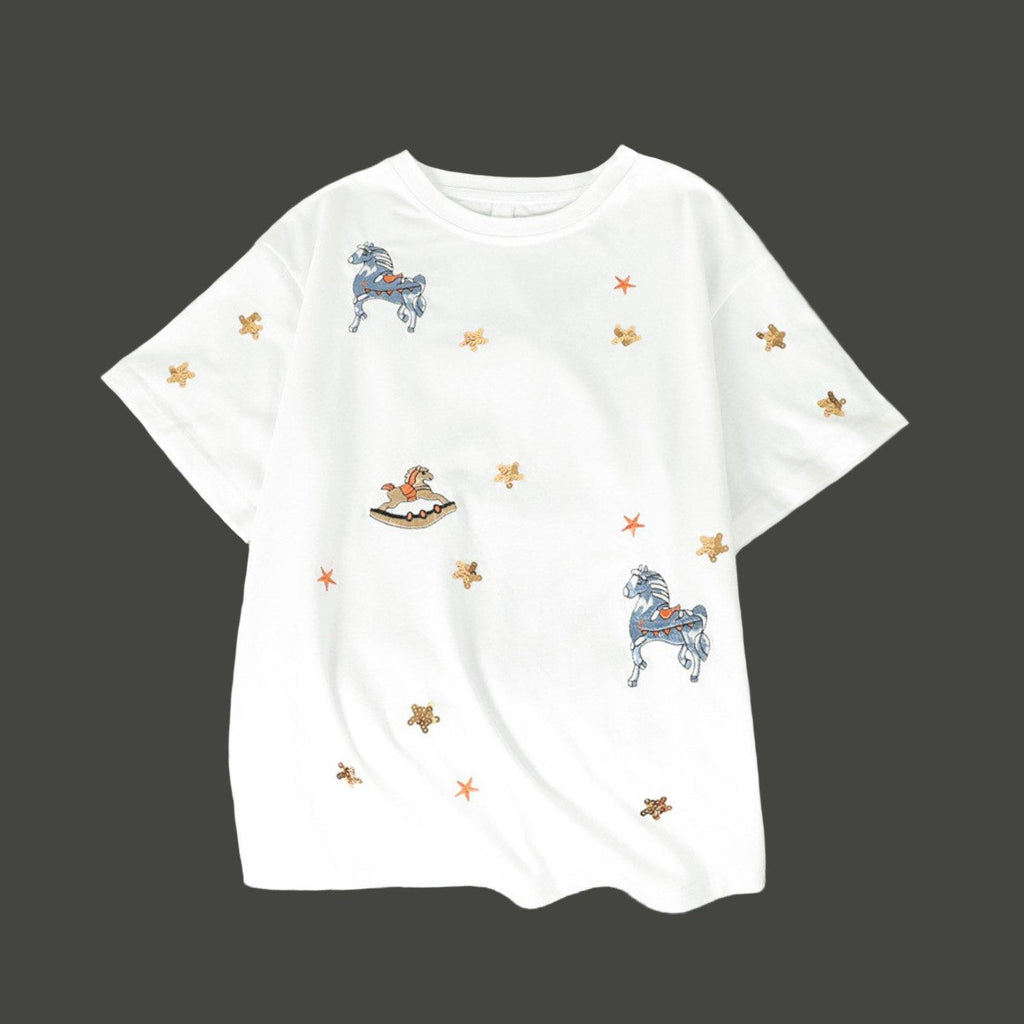 Loose Embroidery T-Shirt