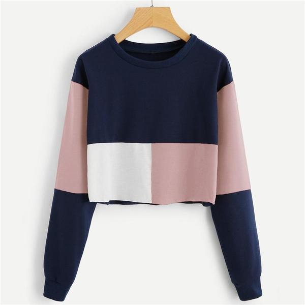Three Tone Colorblock Sweatshirt