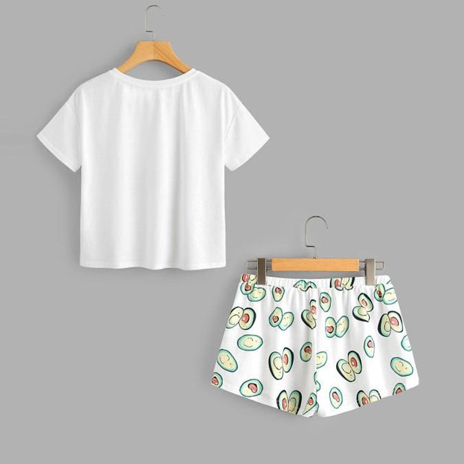 'I AVO CRUSH ON YOU' T-Shirt & Shorts Set