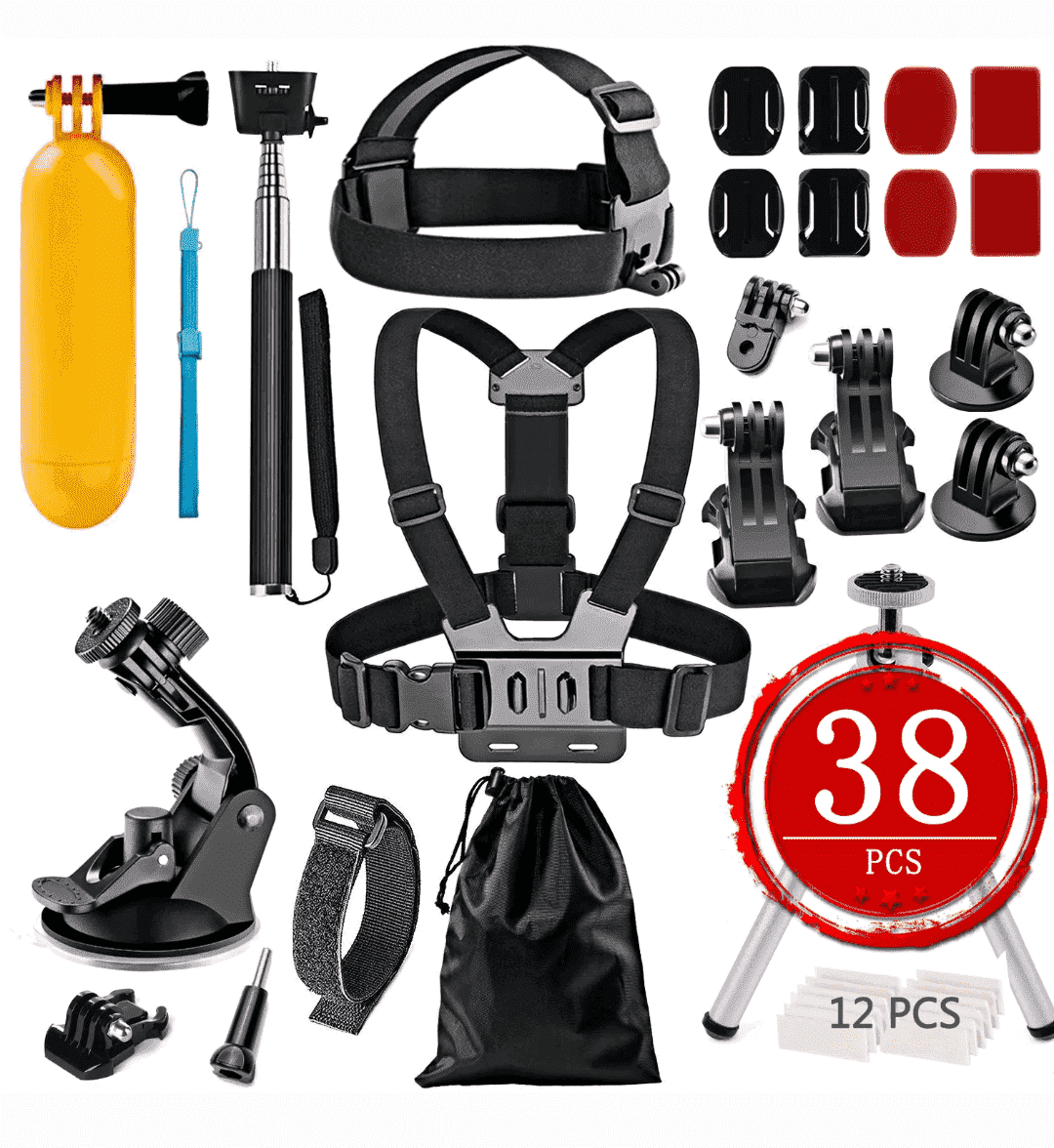38 in 1 Accessories Kit for GoPro Hero Action Camera