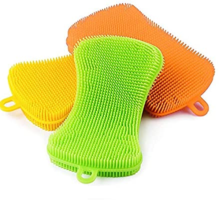 Silicone Kitchen Sponge Australia (3 Pack)