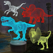 3D Dinosaur Night Light (4 pack)