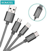 Romoss 3-in-1 iPhone / iPad / Android / USB Type-C Charging Cable Set