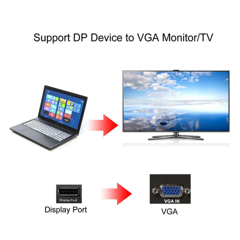 Display Port Male to VGA Female Cable Apu's World