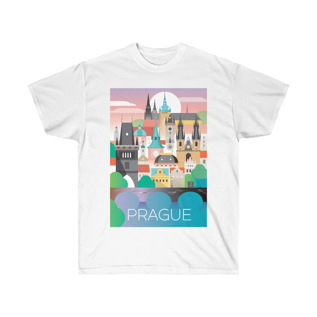 PRAGUE UNISEX ULTRA COTTON TEE