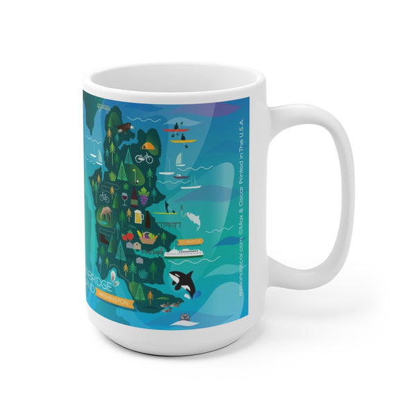 BAINBRIDGE ISLAND 15 OZ CERAMIC MUG