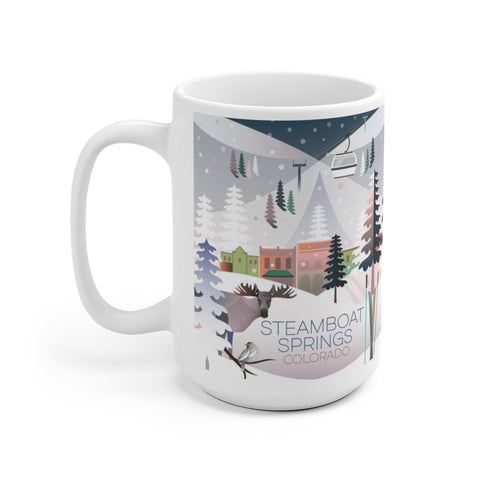 STEAMBOAT SPRINGS 15 OZ CERAMIC MUG