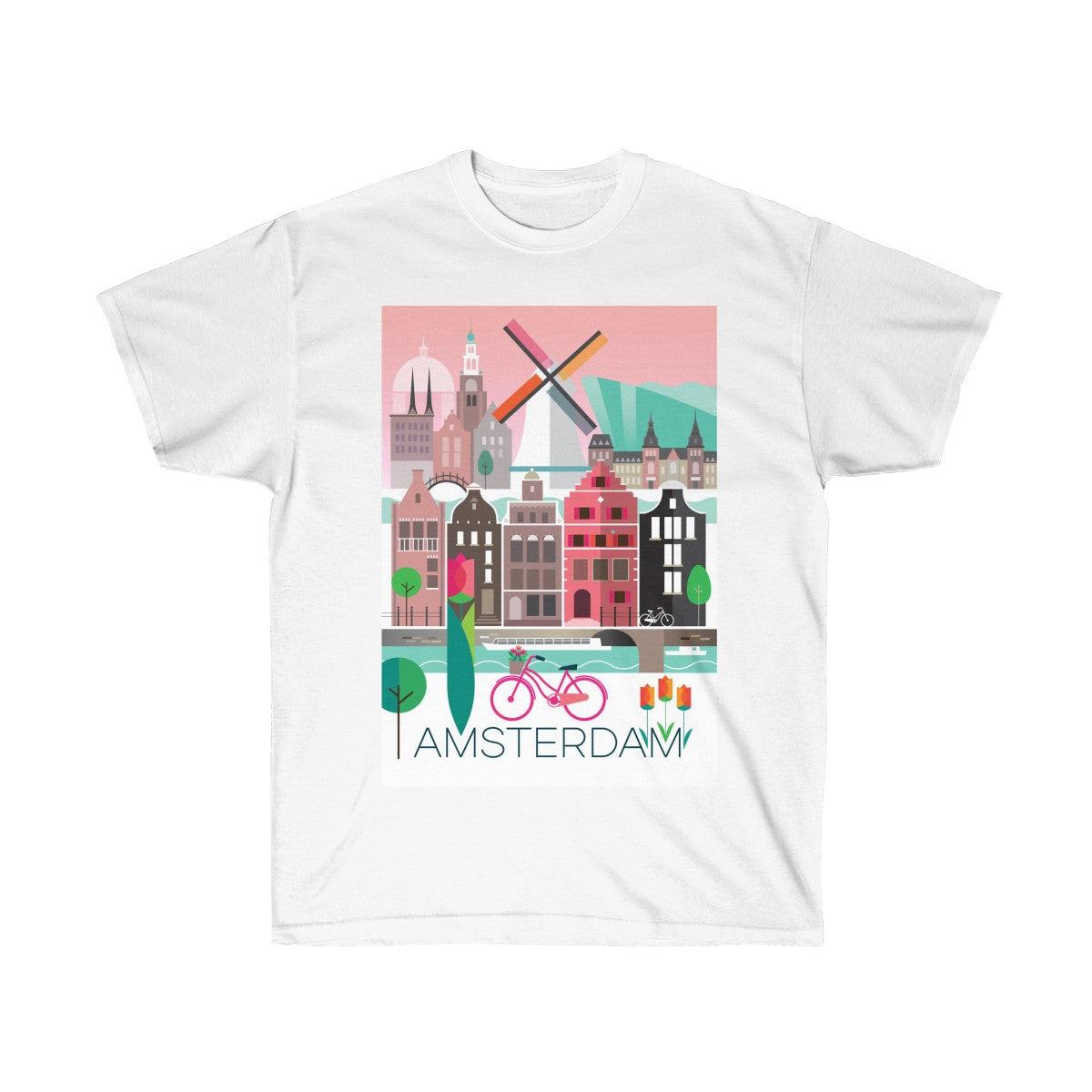 AMSTERDAM UNISEX ULTRA COTTON TEE