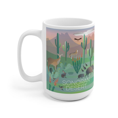 SONORAN DESERT 15 OZ CERAMIC MUG